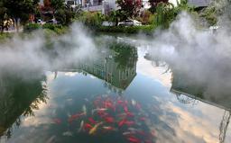 云南弥勒丽景酒店音乐喷泉及高压冷雾
