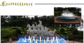 昆明阳宗海春城海岸多处音乐喷泉、跑泉、瀑布、冷雾项目