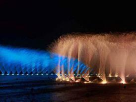 大型湖面漂浮式音乐喷泉项目