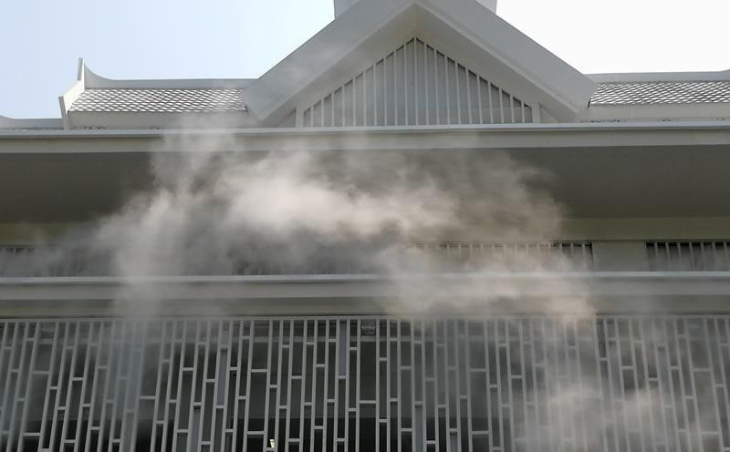 西双版纳文旅城售楼部冷雾系统 云南冷雾工程案例