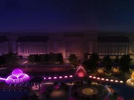 昆明洲际酒店水景喷泉方案动画演示
