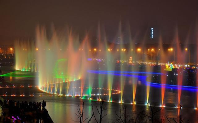 长沙梅溪湖音乐喷泉工程修复工作正式启动