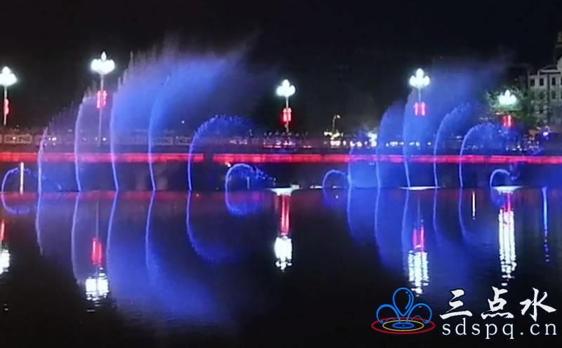 孟连县二维数控音乐喷泉工程案例