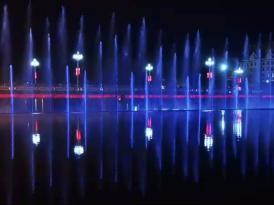 二维数码音乐喷泉公司案例——云南孟连二维数码喷泉
