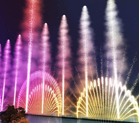 创意大型湖面组合喷泉