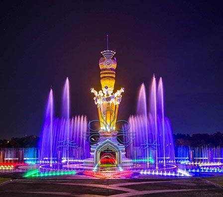变频大型湖面组合喷泉