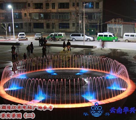 程控旱地跑喷泉
