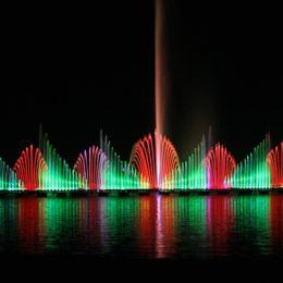 湿地广场漂浮式大型湖面喷泉